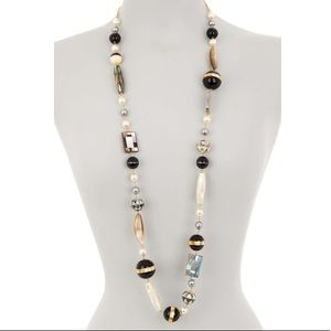 Tory Burch Long Beaded Mother of Pearl Necklace
